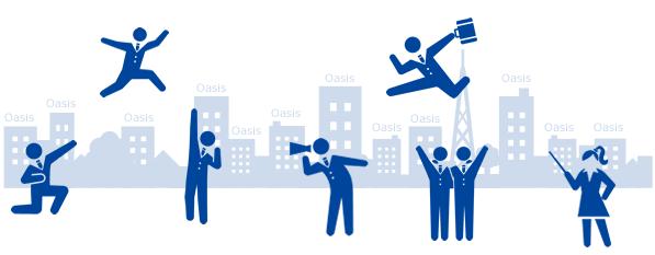 オアシスは、都内最多11拠点と年間契約件数1,500件以上の賃貸オフィス検索サイト